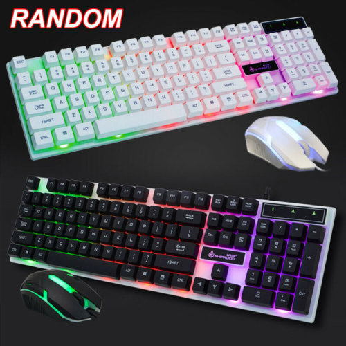 7 Color RGB USB Wired Gaming Keyboard And Mouse Set for PC Laptop Xbox One UK