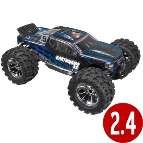 Redcat Racing EARTHQUAKE3.5-NEW-BLUE Earthquake 3.5 Scale Nitro Monster Truck - Blue