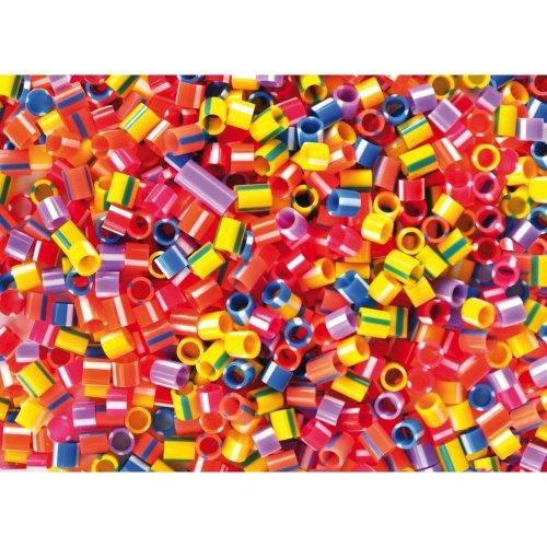 Pbx2470723 - Playbox - Plastic Beads (striped Tubes) - 1000 Pcs