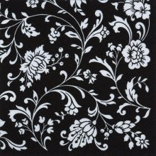 4 x Paper Napkins - Arabesque Black & White  - Ideal for Decoupage / Napkin Art