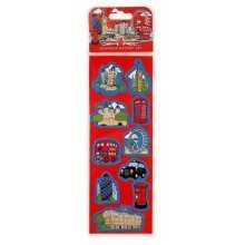 London Cartoon 10 Fridge Magnet Set Big Ben Taxi Red Bus Tower Souvenir Gift Fun