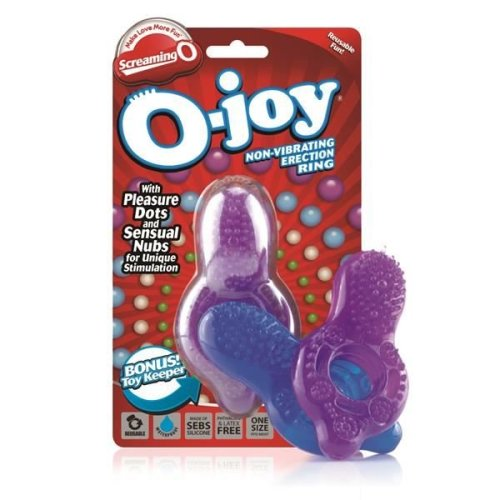 Screaming O O Joy Cock Ring With Nodules For Clitoral Stimulation in Purple