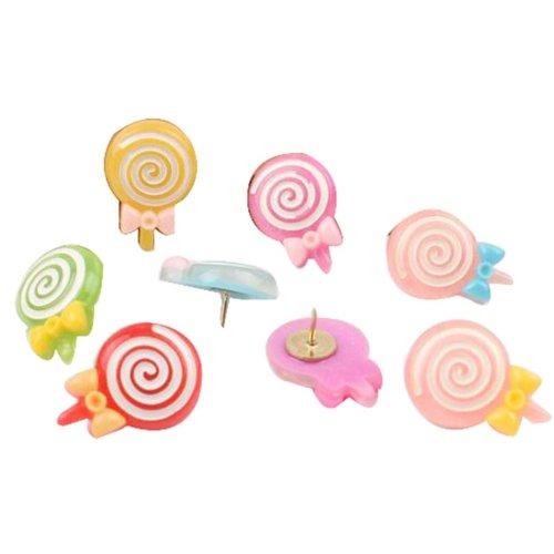 6 Pcs Creative Pushpin Push Pin Thumbtack Office Supplies, Candy