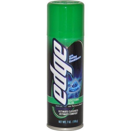 Soothing Aloe Shave Gel Men Shave Gel by Edge, 7 Oz. (Pack of 6)
