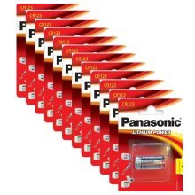 12 x Panasonic CR123A 3V Lithium Photo Battery 123 CR123 DL123 CR17345 Camera