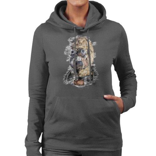 Original Stormtrooper Tusken Raider Mask Sketch Women's Hooded Sweatshirt