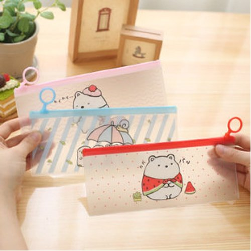 Cute Bear PVC Pencil Case Pouches