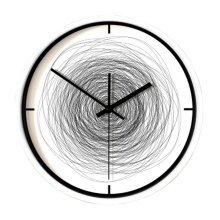 "12"" Sitting room/Bedroom Scribble Style Mute Quartz Wall Clock"
