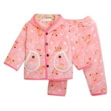 Children Pajamas Warm Thick Cotton Winter Suit Modern Set Sleepwear/Nightwear Clothes for Home, D10