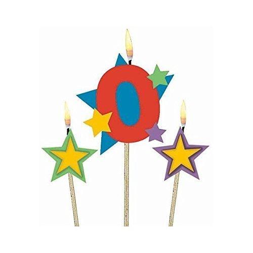 Candle on Stick 0 & Stars  - 12.7cm x 17.8cm - /3