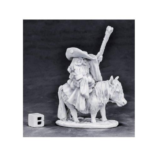 Reaper Miniatures Bones 77575 Dwarf Battle Mage and Pony