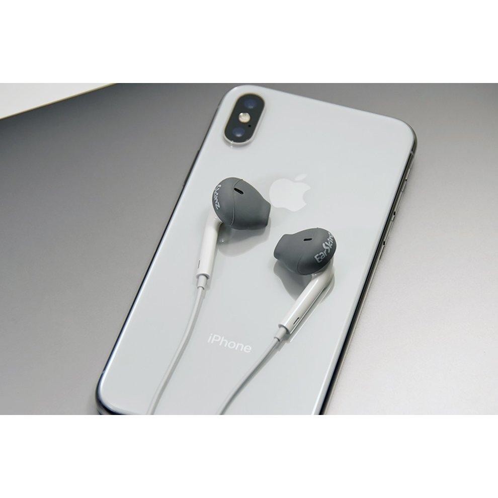 a11e3bfe67e EarSkinz EarPod Covers (ES2) - Charcoal for Apple iPhone X/8/7/6S/6 ...