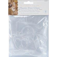 Victoria Lynn Plastic Pew Clips 6/Pkg-Clear