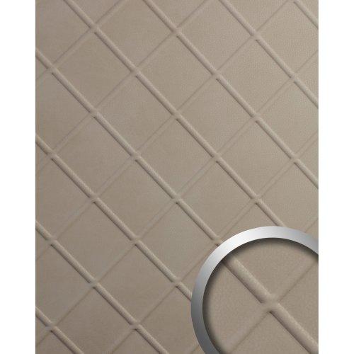 WallFace 19766 Antigrav CORD Stony Ground Wall panel nappa leather look beige