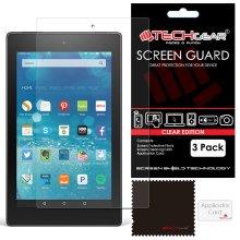 [3 Pack] TECHGEAR® Amazon Fire HD 8 CLEAR LCD Screen Protectors
