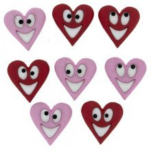 Happy Hearts, Valentines, Dress It Up Buttons, Scrapbooking, craft