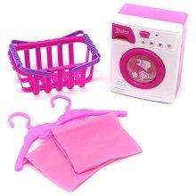 Little Treasures Miniature Laundry Pretend Play Set Toy for Kids