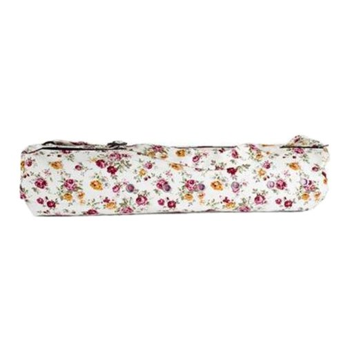 Pouch Yoga Canvas Mat Tote Bag Holder:  Lightweight, Durable, Breathable[Floral]