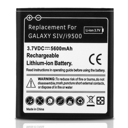 Battery for Samsung Galaxy S4 5600 mAh Replacement Battery + Housing - Black