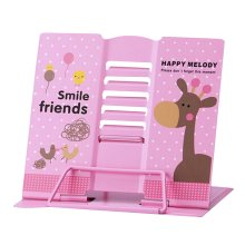 Book Stand Book Holder Adjustable Foldable Book Stand Cute [A]