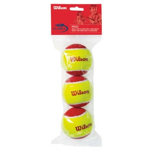 Wilson Tennis Balls WRT137000 Red US Open Red Tennis Ball - 3 Pack