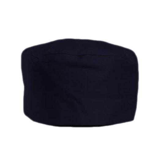 Japanese Fashion Cook Hats Hotel Cafe Flat Hat Adjustable Chef Hats-Black