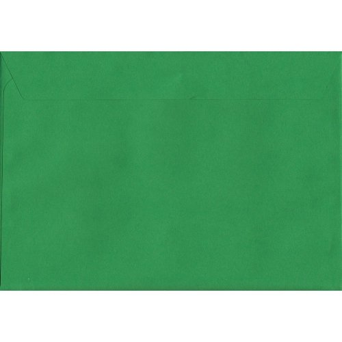 Holly Green Peel/Seal C5/A5 Coloured Green Envelopes. 120gsm Luxury FSC Certified Paper. 162mm x 229mm. Wallet Style Envelope.