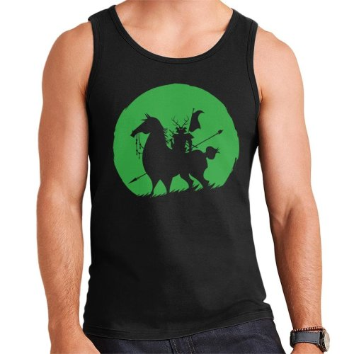 Shadow Warrior Green Silhouette Samurai Jack Men's Vest