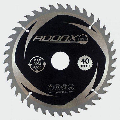 Addax C2543040 TCT Circular Saw Blade 254 x 30 x 40T