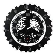 GoedYE 3D metal gear wall clock - Classical black 45cm