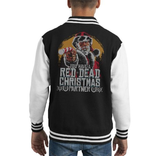 You Have A Red Dead Redemption Christmas Partner Kid's Varsity Jacket