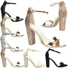 Lila Womens High Block Heel Peep Toe Ankle Strap Sandals