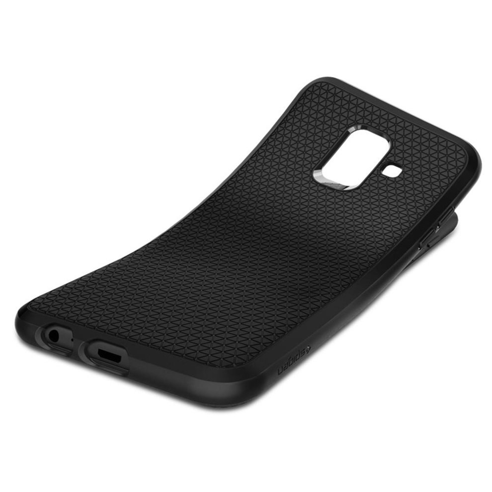 new style 76824 069c8 Liquid air armor shockproof case by Spigen for Samsung Galaxy A6 - Black