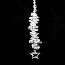 Cut Crystal Star Cascade Suncatcher Window Ornament
