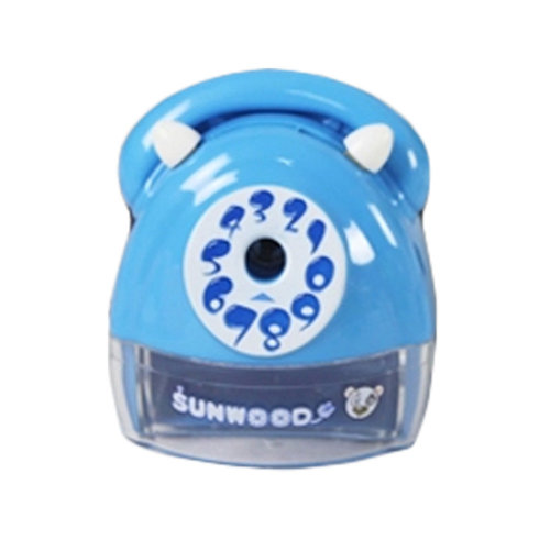 Telephones Sets Manual Pencil Sharpener for Office and Classroom (Blue)