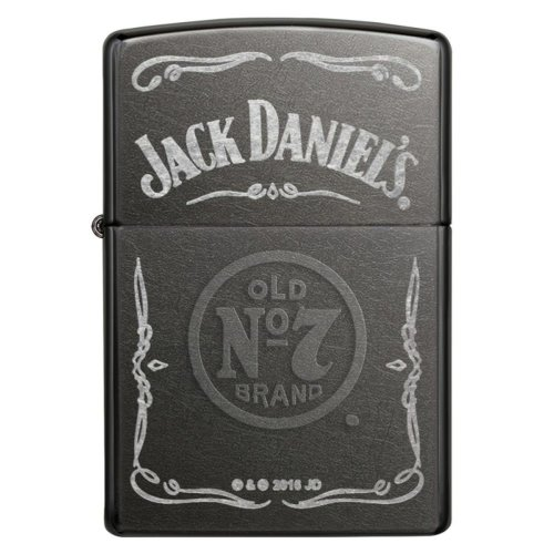 Jack Daniel's Label Grey Dusk Zippo Lighter