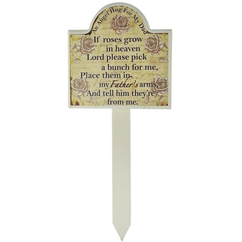 Dad Grave Memorial Stick Stake Marker If Roses Grow In Heaven