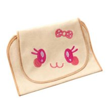 Baby Sweat Absorbent Cotton Towel with Lovely Cartoon Pattern (32 x 24 cm)