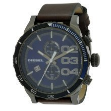 Diesel Double Down 48 Leather Mens Watch DZ4312