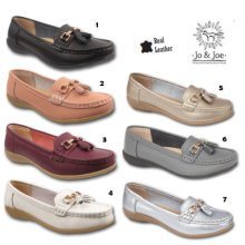Ladies Nautical Leather Tassel Loafers Moccasins