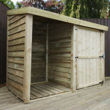 3x7 Premium Pressure Treated Double Store