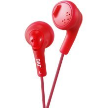 JVC Gumy Bass Boost Stereo Headphones for iPod iPhone MP3 and Smartphone - Rasberry Red