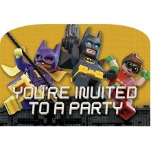 Batman Lego Postcard Invitations