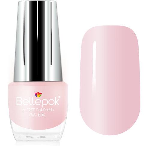 Bellepok 10-FREE Nail Polish - Pink Blush | Non-Toxic Pink Nail Varnish