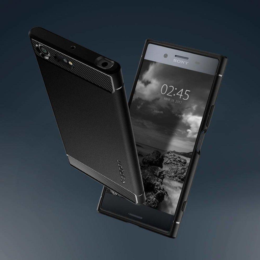 new concept 27291 b2a5e SPIGEN Sony Xperia XZ Premium Case Rugged Armor, Black