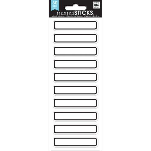 Me & My Big Ideas Label Stickers-Black Mini Rectangles, 30/Pkg