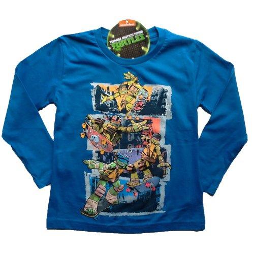 Turtles T Shirt - Long Sleeved - Blue