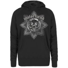 Motorhead Women's Pig Badge Long Sleeve Hoodie, Black, Large -