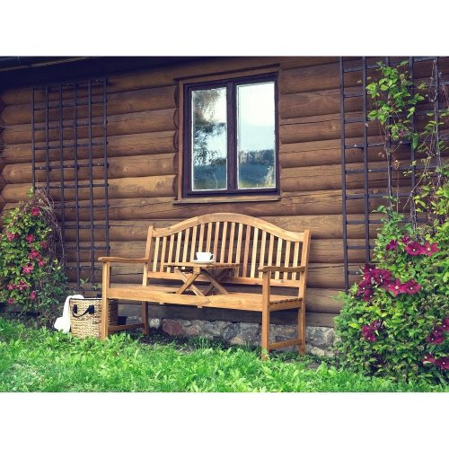 Garden bench - Outdoor bench - 3- Seater - Brown - HILO
