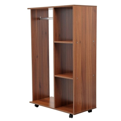Homcom Open Walk-In Wardrobe | Mobile Open Wardrobe